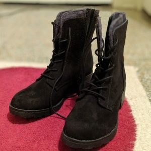 NWOT Black Suede Target Boots size 6